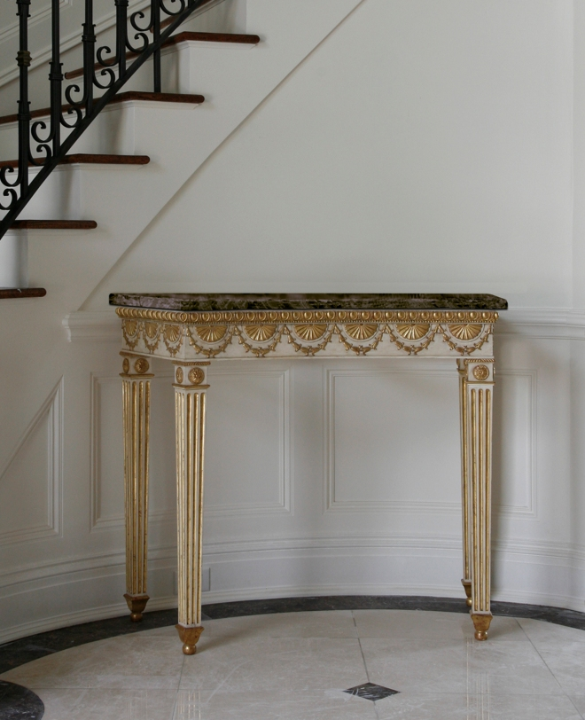 George III curved console table