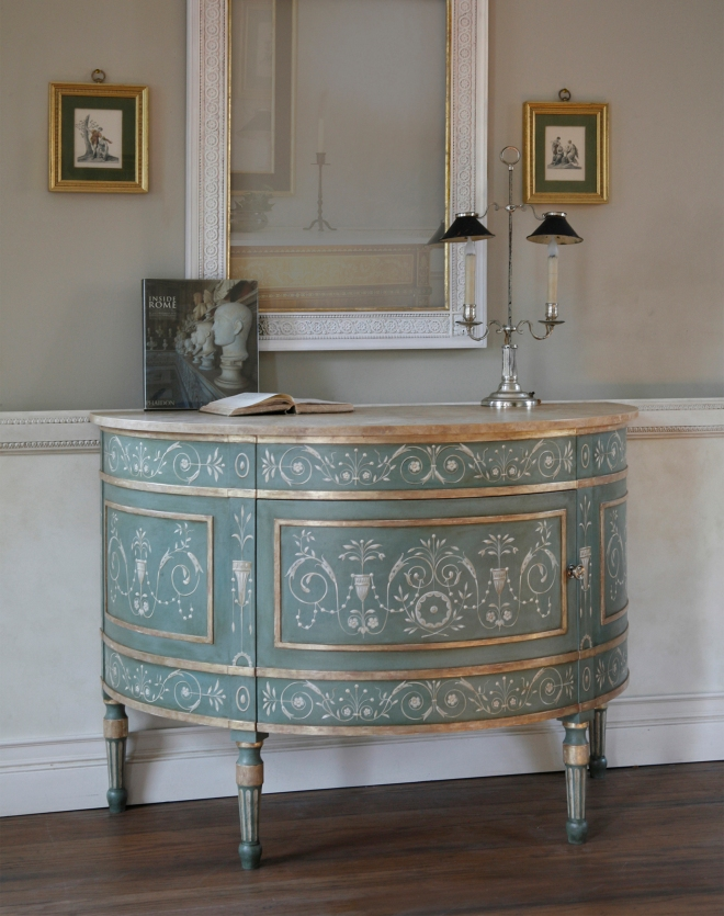 Italian Neoclassical demi lune commode_cr