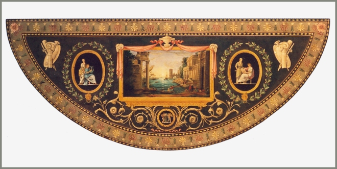 George III demi lune table top_claude