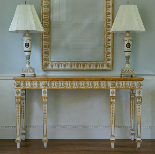 George III console table & mirror_wp