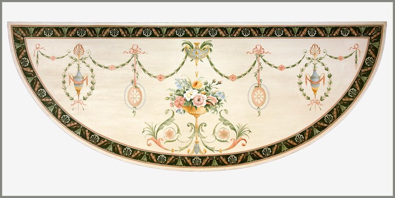 George III demi lune table top 2 wpl