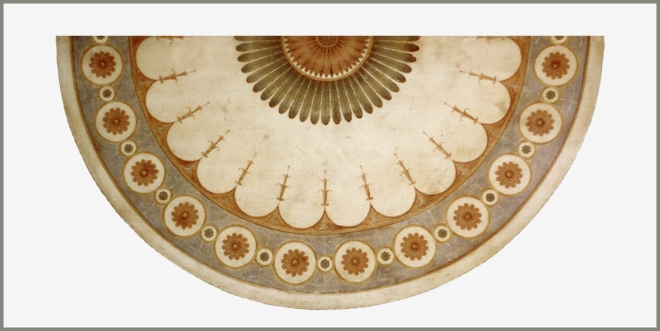 George III demi lune table top 5 wpl