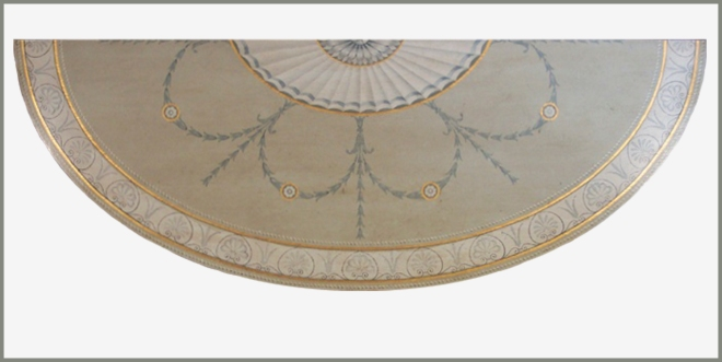 George III demi lune table top 7 wpl