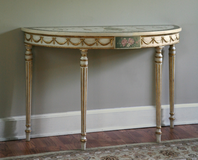 George III demi lune table wpl