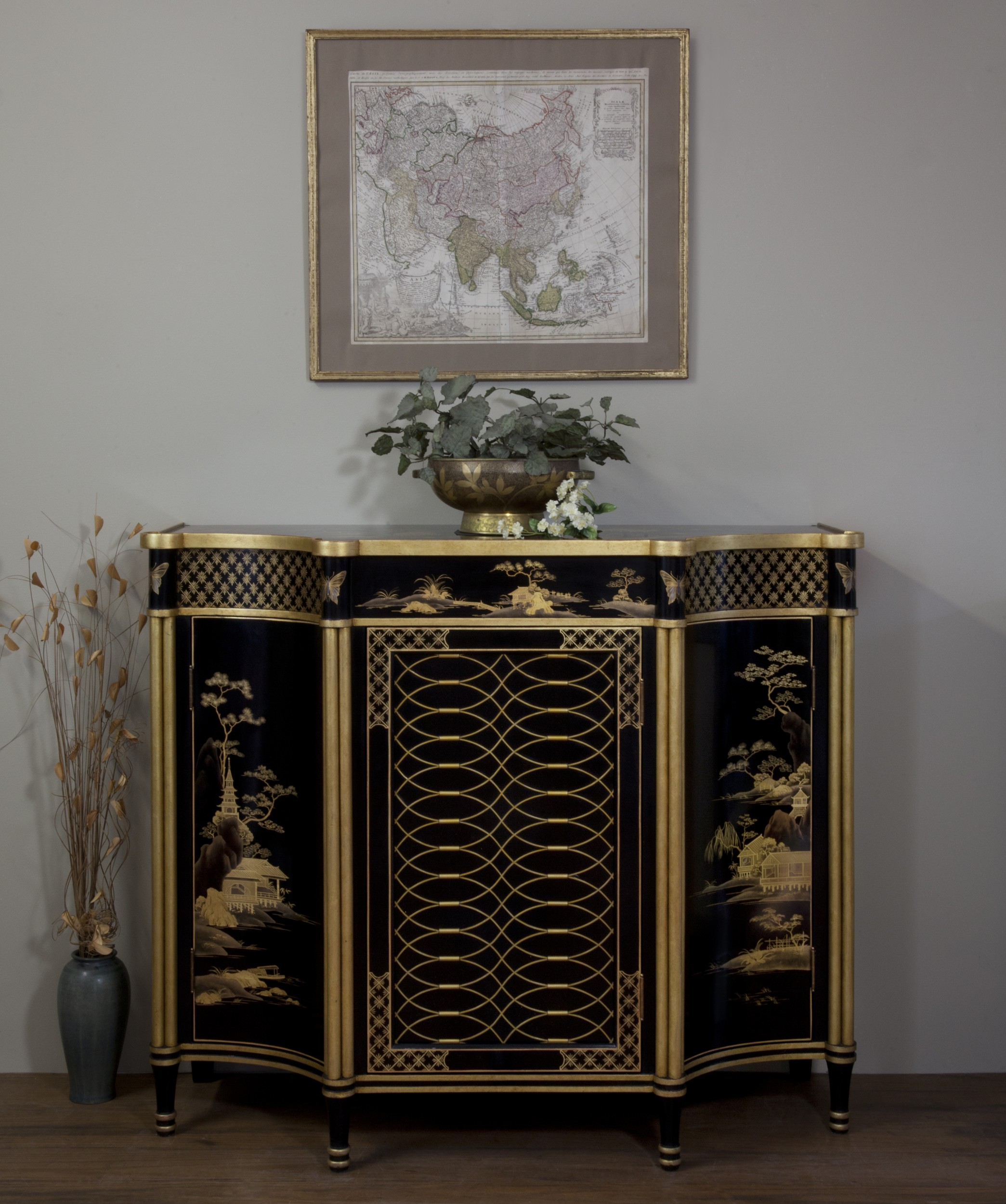 Regency Lacquer Cabinet