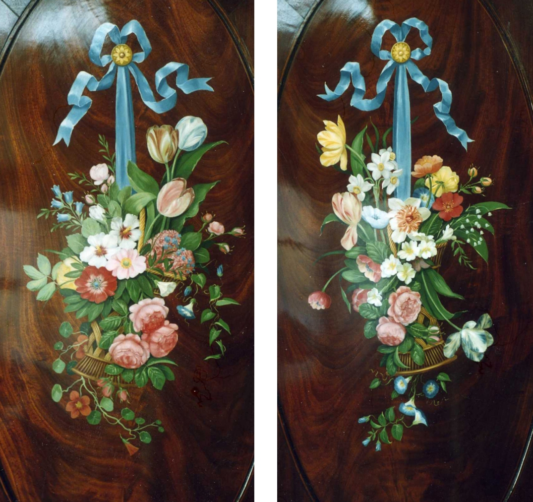 pair of bouquets in baskets copy